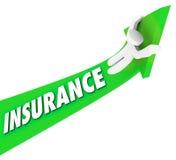 De Medische Prijzen van verzekeringsperson riding high costs expenses royalty-vrije illustratie