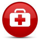 De medische speciale rode ronde knoop van het zakpictogram royalty-vrije illustratie