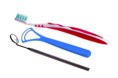 De Medische Spiegel van de tandenborstel met Bezinning Stock Foto