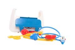 De medische uitrusting van het stuk speelgoed Royalty-vrije Stock Afbeeldingen