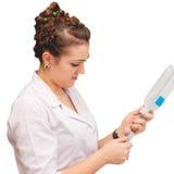 De medische zuster verzamelt binnen medicijnen Royalty-vrije Stock Foto