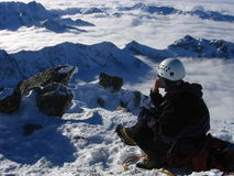 De meditatie van de berg Royalty-vrije Stock Fotografie