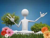 De meditatie van de goeroe Stock Foto