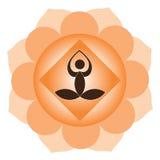 De meditatie van de yoga vector illustratie