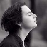 De meditatie van het meisje Stock Foto's