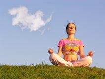 De meditatie van het meisje royalty-vrije stock afbeelding