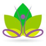 De meditatie van Lotus Stock Afbeelding