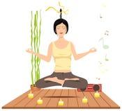De meditatie van vrouwen stock foto's