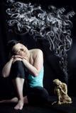 De meditatiemening reinigt Stock Foto