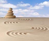 De meditatietuin van Zen Royalty-vrije Stock Foto's
