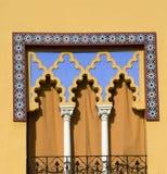 De mediterrane Behandeling van het Venster Royalty-vrije Stock Afbeeldingen