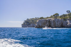 De Mediterrane kust van Viareggio Stock Afbeelding