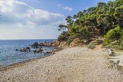 De mediterrane kusten Stock Foto