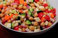 De mediterrane Salade van de Kikkererwt Stock Foto's