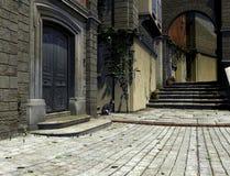 De mediterrane Scène van de Straat Royalty-vrije Stock Afbeeldingen