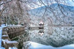 De meer-Sneeuw van sneeuwlulin scène in Onderstel Lu stock afbeelding