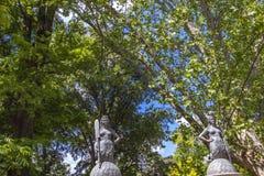 De meerminnen overbruggen bij Sempione-Park in Milaan Stock Foto