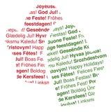 De meertalige Tekstuele Vuisthandschoenen van de Vakantie vector illustratie