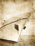 De meertros van de boot in haven. royalty-vrije stock foto's