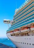 De meertros van het cruiseschip Stock Foto's
