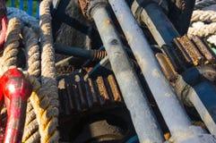 de meertrosmechanismen van de overzeese boot, sluiten omhoog royalty-vrije stock foto