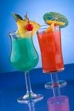 De meeste populaire cocktailsreeks - Blauwe Hawaiiaans en Royalty-vrije Stock Afbeelding
