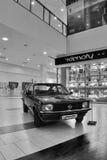 De meesten, Tsjechische republiek - 18 Maart, 2017: De coupé van Opel Kadett 1,2S van 1978 in warenhuis Stock Afbeelding