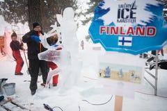 De MEESTER 2013 van ijs TATRY in Hrebienok, Slowakije Royalty-vrije Stock Afbeeldingen