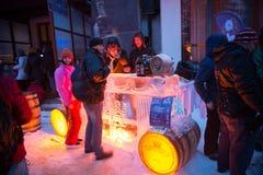 De MEESTER 2013 van ijs TATRY in Hrebienok, Slowakije Stock Fotografie