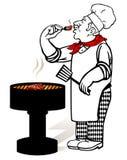 De Meester van de grill Stock Fotografie