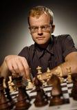 De meester van het schaak stock foto's