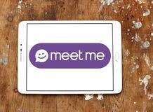 De Meet Groep, MeetMe, sociaal netwerkembleem Stock Foto's