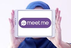 De Meet Groep, MeetMe, sociaal netwerkembleem Royalty-vrije Stock Foto