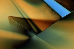 De meetkundereeks van lichten Stock Foto's