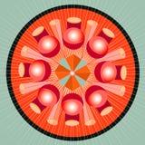 De meetkundespectrum van Mandala Stock Foto's