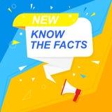 De megafoon met bel en inschrijving u wist het Kleurrijke kleuren luidspreker Banner voor zaken, marketing en reclame vector illustratie