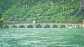 ¡ De Mehmed PaÅ uma ponte do ‡ de SokoloviÄ foto de stock