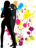 De meisjes - een abstracte achtergrond Royalty-vrije Stock Foto's