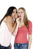 De meisjes roddelen Stock Foto