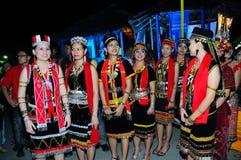 De Meisjes van Bidayuh Stock Foto