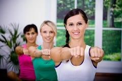 De meisjes van de aerobics Stock Fotografie