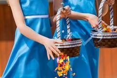 De meisjes van de bloem Royalty-vrije Stock Foto's