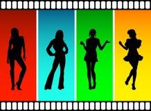 De meisjes van de film Stock Afbeeldingen