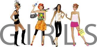 De meisjes van de manier Stock Fotografie