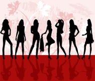 De meisjes van de manier - vector Royalty-vrije Stock Fotografie