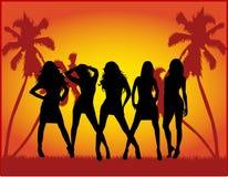 De meisjes van de partij Stock Afbeelding