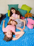 De Meisjes van de Partij van de sluimer Stock Afbeelding
