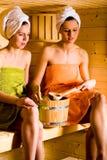 De meisjes van de sauna Stock Afbeelding