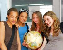 De meisjes van de school Stock Afbeeldingen