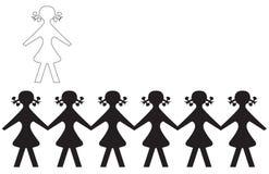 De Meisjes van de school royalty-vrije illustratie